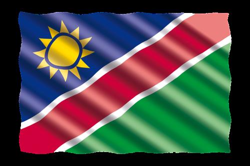 tarptautinis,vėliava,Namibija