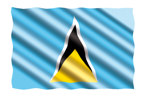 international flag saint-lucia