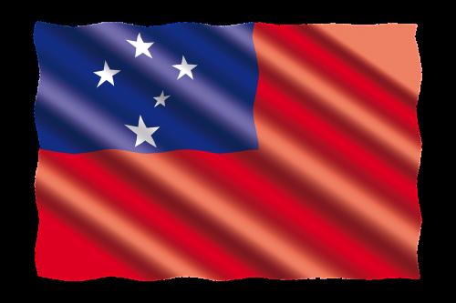 international flag samoa