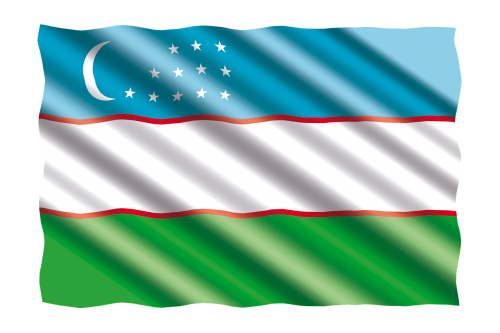 international flag uzbekistan