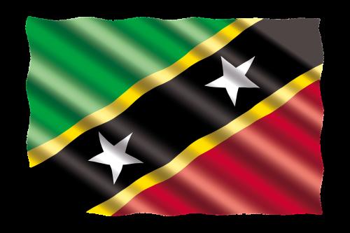 international flag st-kitts-and-nevis