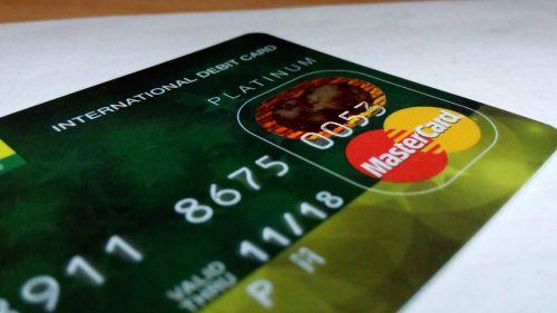 international debit card credit card bank
