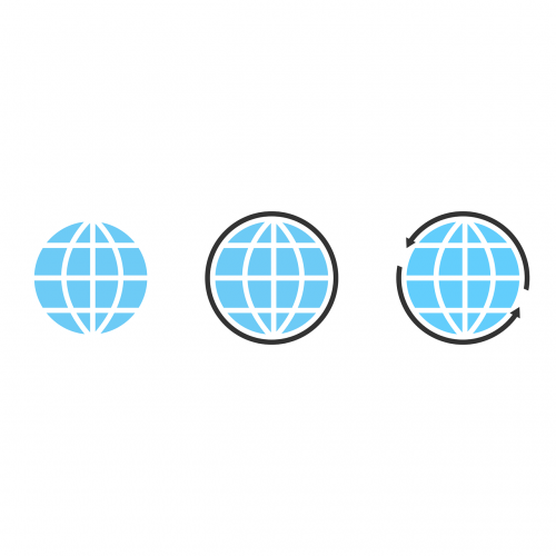 internet icon globe