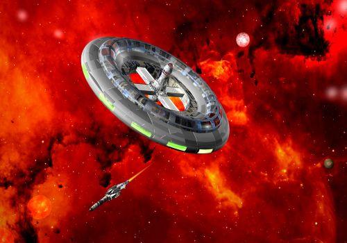 interstellar space station spaceship