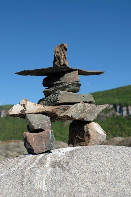 inukshuk  statue  symbol