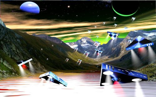 invasion space ships alien planet