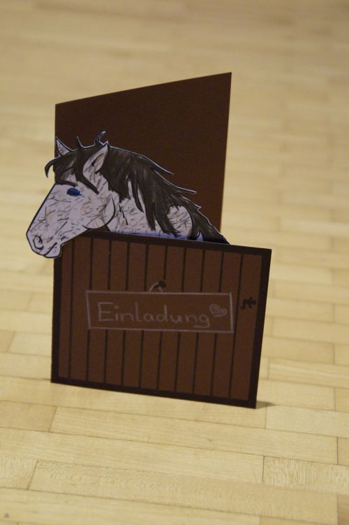 invitation horse horse stable