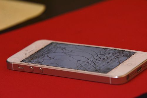 iphone cracked shattered
