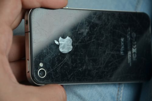 iphone scratched phone