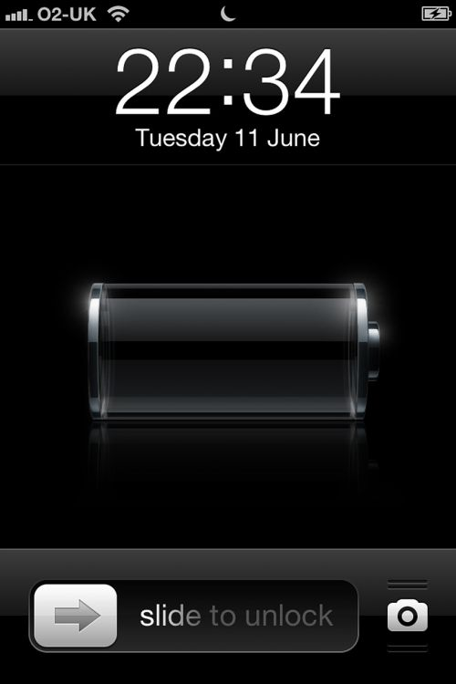 iphone flat battery screen