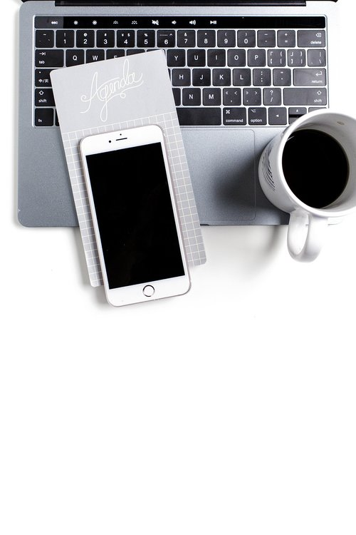 iphone x  laptop  coffee