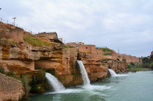 iran ancient waterfalls shoshtar