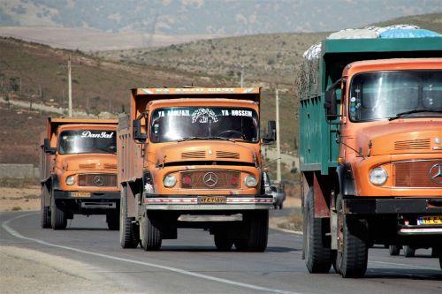 iran mercedes truck