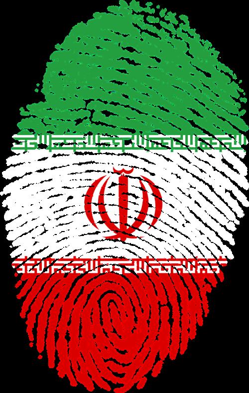 iran flag fingerprint