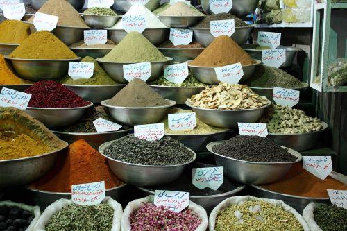 iran market spices