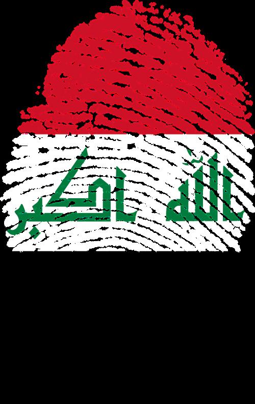 iraq flag fingerprint