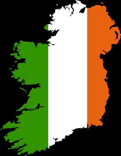 ireland map drawn