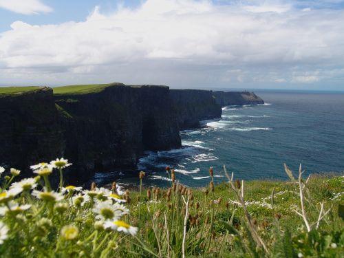 Airija,kranto,kraštovaizdis,Rokas,gamta,užsakytas,uolos pakrantė,uolos