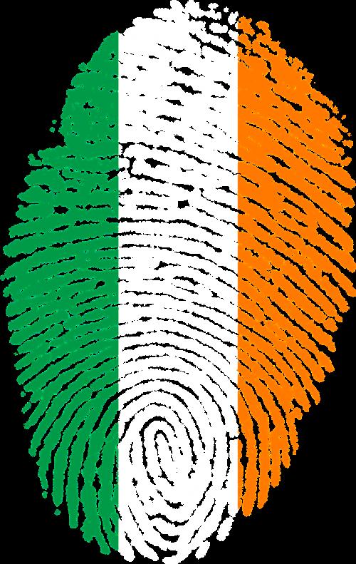 ireland flag fingerprint