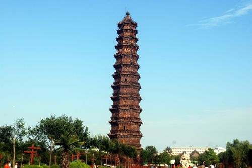 geležis, pagoda, šventykla, religija, budistinis, Kaifeng, Kinija, orientyras, geležies pagoda