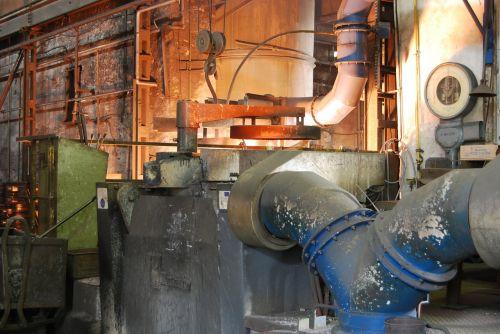 ironworks industrial plant smelting of pig iron