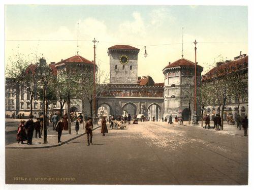Isar Gate Munich Bavaria Germany