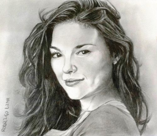 isis valverde actress drawing