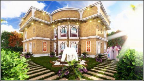 islamic,arabų dizainas,vila