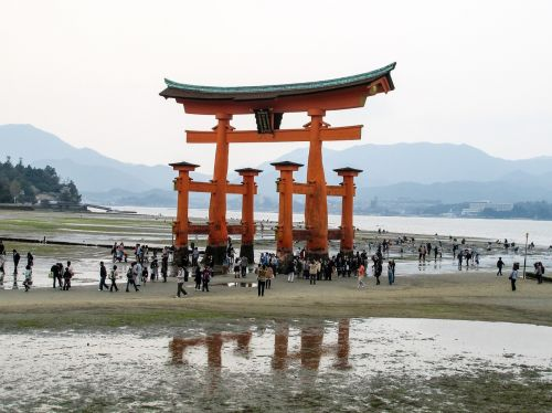 巖 island shrine itsukushima shinto shrine