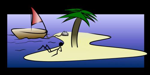 island sailing boat sailing