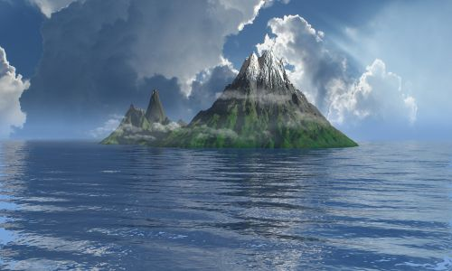 island mist ocean
