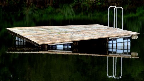 island bathing island raft
