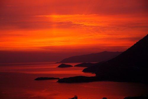 island  sunrise  crete
