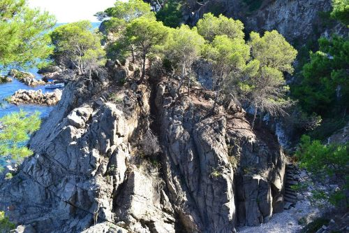 island rock cliff