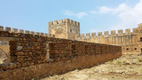 island of crete castle fortress