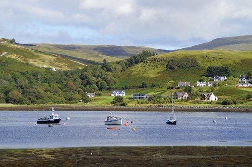 isle of skye  port  landscape