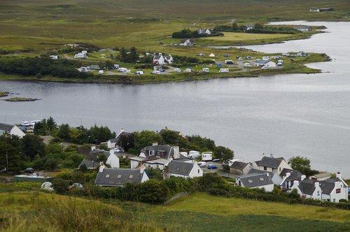 isle of skye  scotland  campsite