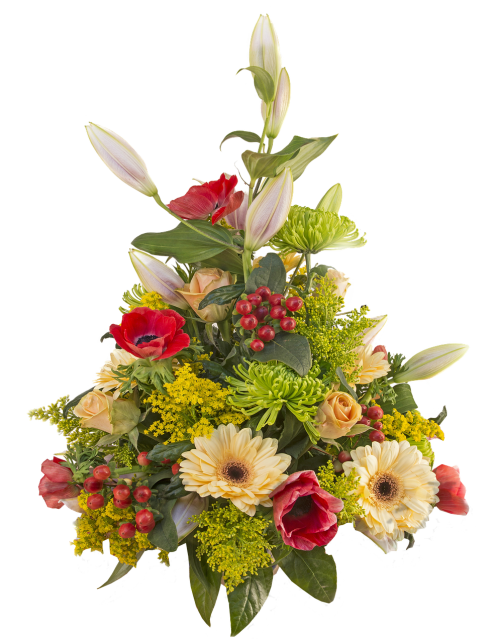 isolated bouquet flowers