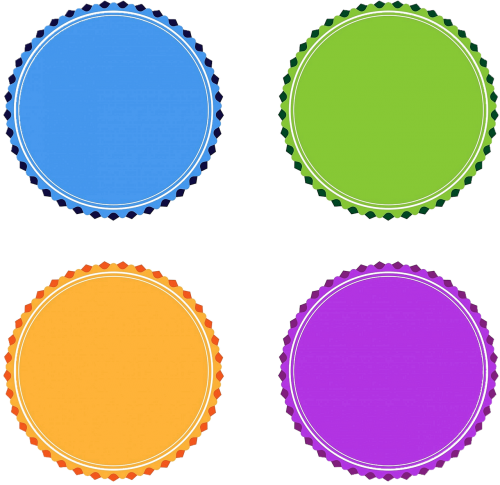isolated badge medals