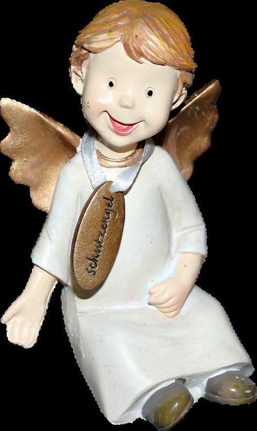 isolated angel happy