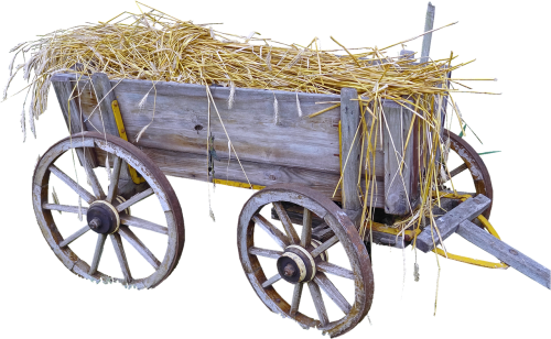 isolated hay wagon bauer