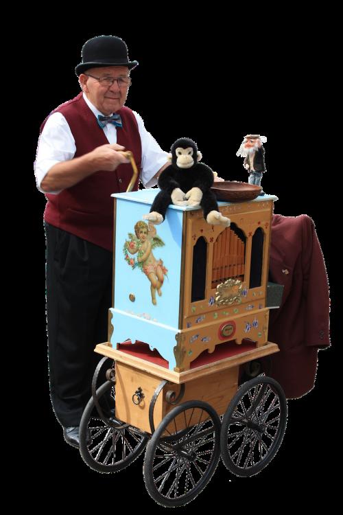 isolated barrel organ street organ
