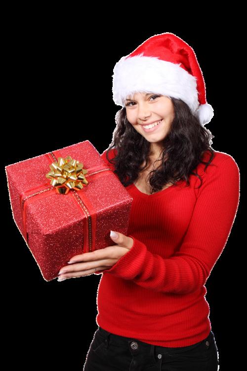 isolated christmas gift