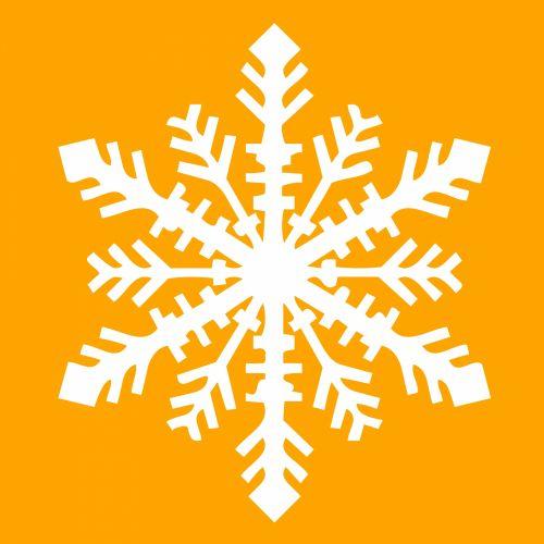 Isolated White Snowflake