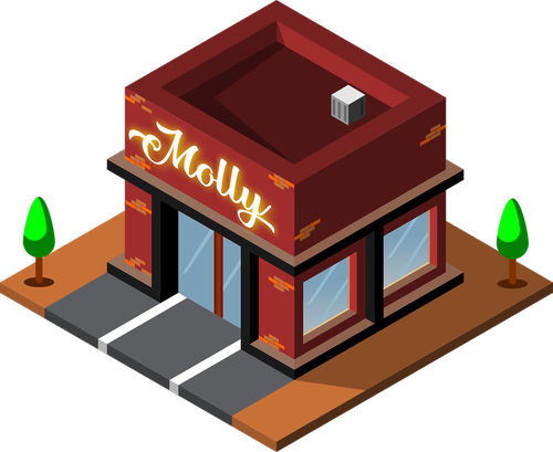 isometric  shop  coffee