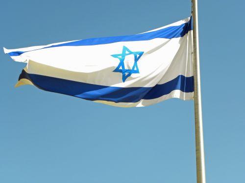 israel flag blue