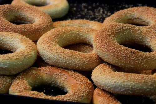 Israeli Bagels Sold At Market