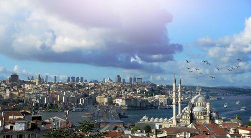 istanbulas,Turkija,galata,Turkija,kraštovaizdis,debesis,bokštas