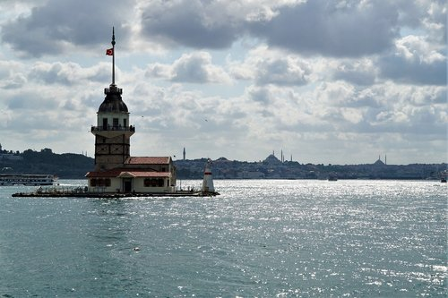 istanbul  maiden's tower  bosphorus