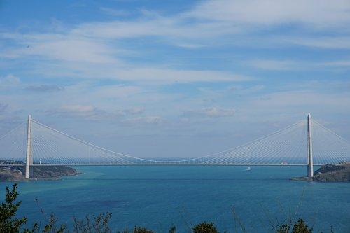 istanbul  bridge  the strait of istanbul